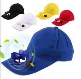 Wholesale Hat Cap Solar Power - Men women Hat Solar Power Hat Cap Cooling Fan For Baseball Sport Summer Outdoor Solar Sun Cap With Cooling Fan Baseball Cap KKA3541