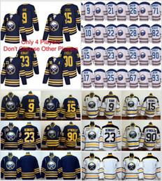Wholesale 15 Hockey Jerseys - 2018 Winter Classic Buffalo Sabres 15 Jack Eichel 9 Evander Kane 23 Sam Reinhart 90 Ryan O'Reilly OReilly Ice Hockey Jerseys New Blue White