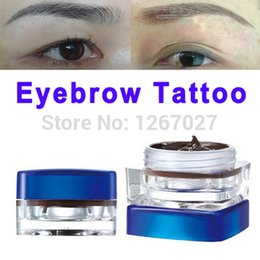 Wholesale Black White Tattoo Ink - Wholesale-5 PCS Eyebrow Permanent Makeup Paste Pigment Tattooing Black Paint for Tattoo Ink White Color Mascara Special Henna Lip