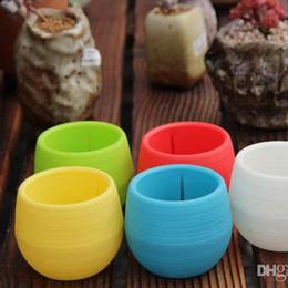 2019 vaso da giardinaggio Mini vasi da fiori giardinaggio Mini vasi da fiori colorati in plastica vivaio Fiori da giardino Deco Gardening Tool vaso da giardinaggio economici