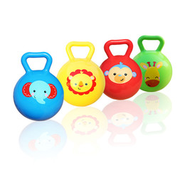 Wholesale Wholesale Bouncing Inflatables - Wholesale- 1pc Inflatable Baby Balls Lovely Pet Design Bouncing Ball Educational Toys Animal Balls Gifts For Infant kids 4 Inch