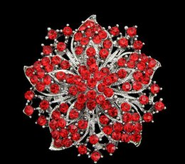 Wholesale Clear Rhinestone Crystal Vintage Diamante - Vintage Style Wedding Brooches Corsage Colorful Clear Rhinestone Crystal Diamante Party Brooch Pins For Women 8 Colors DR