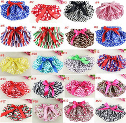 Wholesale Lace Petti Bloomers - hot sale 21 Patterns Baby Ruffle Bloomers Petti Lace pants Girls Ruffle Panties Briefs Bloomer Diaper Covers for Christmas Holidays