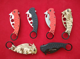 Wholesale knife fighting - Top edition Fox Knives Karambit Folder Knife 440C steel G10 handle 478 Kuku Hanuman Fighting Trainer Karambit EDC tactical knife knives