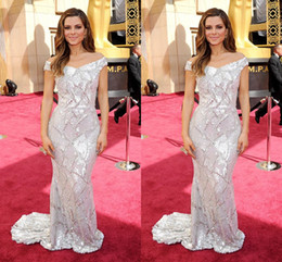 Wholesale Maria Menounos Dresses - 2016 Maria Menounos The 88th Oscar Awards Bling Bling Evening Dresses Sequins Beading Sheath Prom Party Gown Formal Dresses Celebrity