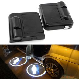 Wholesale Wireless Car Led Lights - Wireless Car Door LED Projector Light Courtesy Welcome Logo Light For Chevrolet (1Pair)