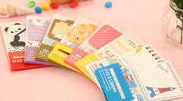 Wholesale Sticky Note Book - NewFashion creative candy color sticky   cartoon note book   Note Memo   Message Post   Writing scratch pad   Wholesale