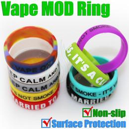 Toca cigarros e on-line-MOD proteger anel de borracha de Silicone para vape 18650 22mm mods mecânicos antiderrapante decorativo proteção resistência e cigarro RDA anéis