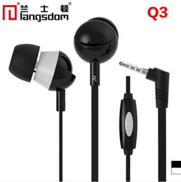 Wholesale Generic Cell - Langsdom Oaklands Dayton Q3 3.5mm stereo plug flat wire phone headset-ear headphones headset manufacturers wholesale generic smart phone fre