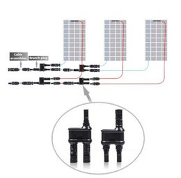 Wholesale Wholesale Solar Pv System - 5 Pairs MC4 T-branch Solar Panel Connector for PV   Photovoltaic System plus HQRP Coaster, Compatible With PV Cables