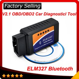 Wholesale Wholesale Toyota Interface - 2016 10pcs lot ELM 327 ELM327 bluetooth OBD 2 OBD2 OBDII Protocols Auto Car Diagnostic Interface Scanner tool free shipping