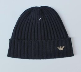Wholesale Beanie Embroidery - unisex Winter Unisex brand GC GA embroidery men crimping knitted Hat men sports caps casual outdoor beanies free shiipping
