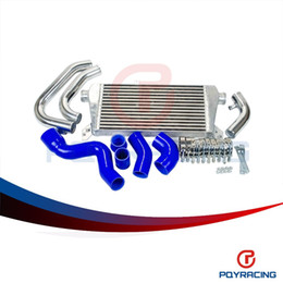 Wholesale Hose For Intercooler - PQY STORE- New Front Mount Intercooler Kit for Audi A4 1.8T Turbo B6 Quattro 2002-2006 silicone hose color blue PQY5046