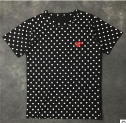 Wholesale Spring Japanese Fashion - 2018 spring and summer selling new Japanese tide brand wave point classic love T-shirt shirts for men and women couples leisure short sleeve