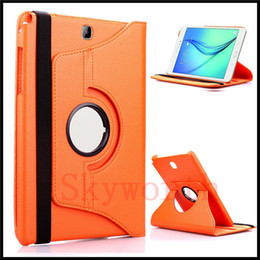 Wholesale Tablet Pc Abs - 360 Rotating PU Leather Case Cover for Samsung Galaxy Tab 4 Tab4 7.0 T230 7 inch Tablet PC with sleep wake up