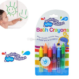 Wholesale draw crayons - 2018 NEW Baby Toddler Bathing Bath Crayons Bathtime Drawing Writing Fun Play Educational Gift C3338
