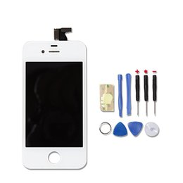 Wholesale Original Iphone 4s Assembly - Wholesale-Original Quality LCD Digitizer Touch Screen+LCD Display Frame Assembly +Tools For iphone 4s AT&T