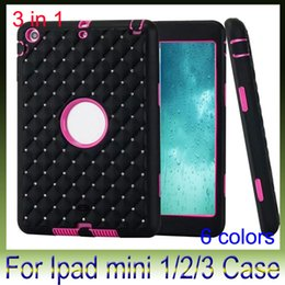 Wholesale Tablet Pc Pouch White - Starry Sky TPU+PC Robot 3 in 1 tablet PC full protective for Apple iPad mini 3 2 1 back case cover 10pcs lot