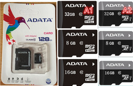 Wholesale Memory Usb 16gb Adata - 2018Top Selling ADATA 64GB 32GB 16GB 8GB 128GB 256GB C10 Micro SD TF Memory Card Free SD Adapter Retail Blister Package microSD SDHC