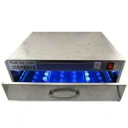 Wholesale Lcd Light Boxes - cold process UV LED Box UV light lamp to bake loca glue UV curing Box Strong light curing fast stainless fo lcd glass refurbish phone repair