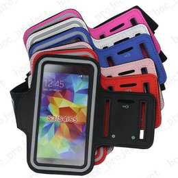 Wholesale Soft Pouch For Iphone 4s - Sport Gym Running Armband Protector Belt Soft Case Running Bag Sport Arm Band For iPhone 6s 6+ 4S 5 5S Galaxy S6 edge S5 S4 NOTE 5 4 3 100p