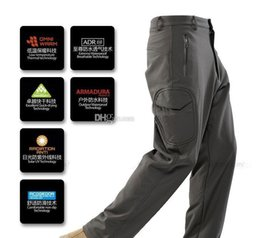 Wholesale Men S Shark Skin - Lurker Shark skin Soft pants camouflage pants 6 color high quality Waterproof Windproof Sports Army pants