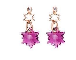 Wholesale Earings Color Diamond - two color diamond flower women's earings (yt-jd) dghfgh