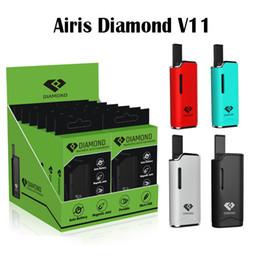 Wholesale Red G2 - Original Airis Diamond V11 Vaporizer Kit 280mAh Auto Battery Mod Vape Pen Kits With G2 Thick Oil G2 Cartridges