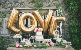2015 new wedding balloons love marry decorative letters aluminum balloons 40inch letters foil balloons wedding party decorations supplies