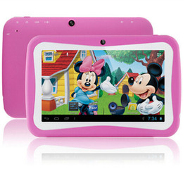 Wholesale inch Quad Core Children Kids Tablet PC GB RK3126 Android MID Dual Cam Educational Games App Birthday Gift