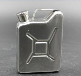 Wholesale Petrol Fuels - 5oz Oil Jerry Can Hip Flask Wine Pot Stainless Steel Fuel Petrol Gasoline Can hip flask