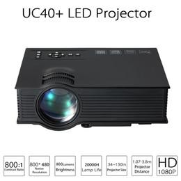 Wholesale Ratio Digital - Updated UC40 Portable LED Projector 800 Lumens Full HD 1080P 800 : 1 Contrast Ratio VGA AV HDMI SD Input Remote Controller EU US