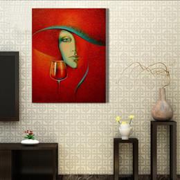 Peint à la main traditionnel art abstrait humain pour la décoration de la maison ? partir de fabricateur