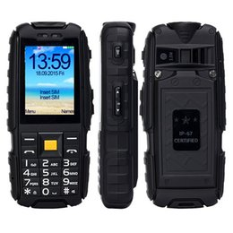 Wholesale Cheap Chinese Phones Batteries - Cheap Original SUPPU X6000 Power Bank mobile Phone IP67 Rugged Waterproof MTK6261 6000mAh monster Battery 2.4inch big keyboard loud speaker