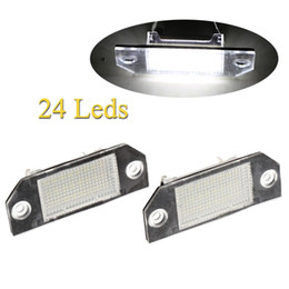 Wholesale I Max - Hot Sale 1Pair Error Free 24 3528 SMD Auto Car LED License Plate Light Lamp Bulb for Ford Focus MK2 C-MAX I External Lights free