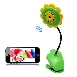 Wholesale Free Electric Monitor - Sales promotion New Arrive Night Vision Sunflower Wireless WiFi Camera Baby Monitor for iPhone iPad Samsung Android Free Shipping