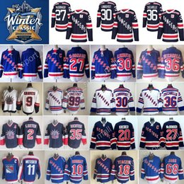 Wholesale M Mark - 2018 Winter Classic Hockey Jersey New York Rangers 30 Henrik Lundqvist 27 Ryan McDonagh 36 Mats Zuccarello 61 Rick Nash 11 Mark Messier blue