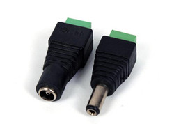 Wholesale Male Female Plug Connectors - DC Power Female Or Male Jack Connector Plugs for 3528 SMD 5050 SMD led strip light 5.5 x 2.1mm