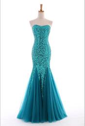 Wholesale Drop Waist Pageant Dresses - Elegant Floor-length Mermaid Design Strapless Sweetheart Bustline Dropped Waist Glittering Sequin Lace Soft Netting Lady Pageant Dress