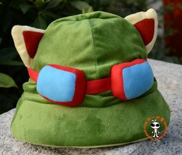 Wholesale Lol Cosplay - Hot game hats League of Legends cosplay cap Hat Teemo hat Plush+ Cotton LOL plush toys Hats