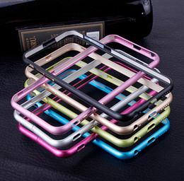 Wholesale S4 Bumpers - Luxury Ultra Thin Slim Case Aluminum Metal Frame Bumper For iPhone 8 7 6 6S Plus SE 5 5S Sasmung Galaxy S4 S5 S6 Note 4 3 Free Shipping DHL