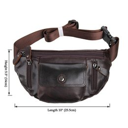 Wholesale Leather Fanny Packs For Men - wasit bags for men,men waist bag,Vintage waist packs bolsas couro genuine leather fanny pack Fashion man small travel sports