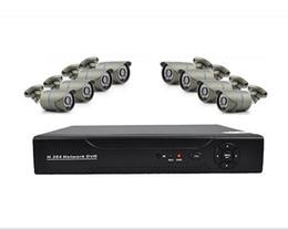 Wholesale Remote Control Bullets - Free DHL,EMS 8CH Onvif SDVR NVR DVR CCTV System H.264 HDMI NVR 1.0MP 720P IP P2P Surveillance Network Camera Iphone APP Remote Control