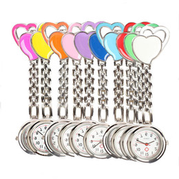 Wholesale Nurse Pendant Watches - 15% Hot Sale Lovely Heart Nurse Pocket Watches Pendant for Doctors Hospital Nurse Pocket Quartz Watch Hours Clocks