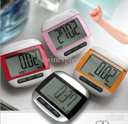Wholesale Digital Lcd Pedometers - Exercise & Fitness Supplies Fitness Equipments Large LCD Display Run Step 3D Pedometer digital walking distance counter