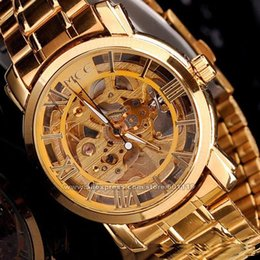 Wholesale Mce Watches - Wholesale-Hot Mechanical Hand Wind Watch For Men Full Steel Watches Male Casual Clock Fashion Dress Luxury Brand Wristwatches MCE 0060049