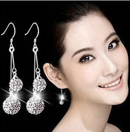Wholesale New Models Rings - New Fahionable Wholesale Classic Diamon Earrings South United State Arabic Europe Hot Hypoallergenic Earrings Models of Quality 925 Silver
