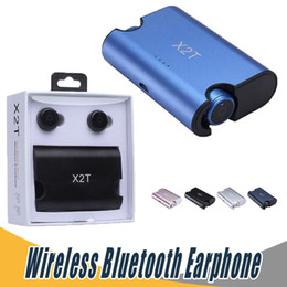 Wholesale Mini X Plus - X2T Earbuds Super Mini True Wireless Earphone with Charger Box Bluetooth Headphone For iPhone X 8 Plus Samsung Note 8