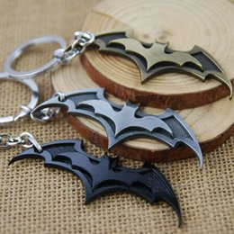 Wholesale Gift Souvenir Keychain - Batman Movie Keychain Super Hero Superhero Key Chain & Key Ring Holder Keyring Porte clef Gift Men Women Souvenirs F-0053