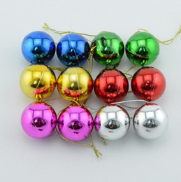 Wholesale Pink Decorated Christmas Tree - Six piece 1.2-3.9 inch Plastic Bauble Christmas decorative Balls To Decorate Chrismas Tree Plastic Ball free shipping CB0102